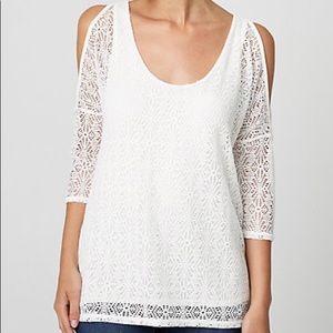 NWT Crochet Open Sleeve Top Large